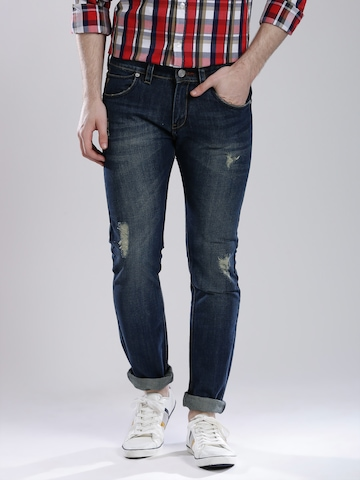 French Connection Navy Washed Skinny Jeans
