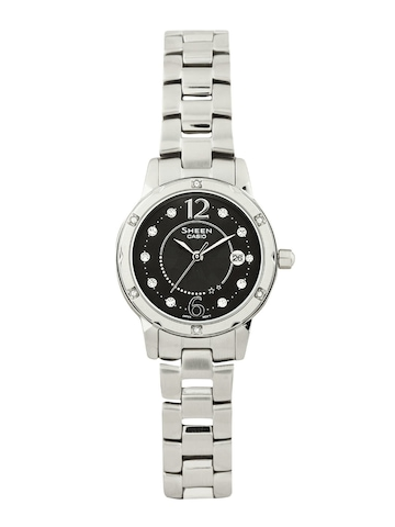 c7817e5f3e3 Casio Sheen Women Silver Analogue Watches SX015 SHE 4021D 1ADF CASIO  Watches available at Myntra for