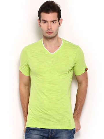 Buy chromozome men lime green t shirt tshirts for men for Neon green shirts for men