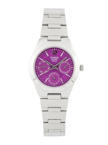 CASIO Women Purple Chronograph Watch A535