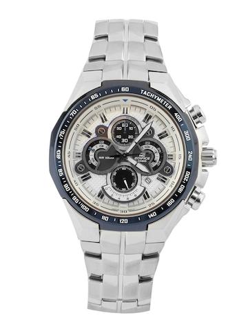 Casio Men Edifice Silver Chronograph Watch