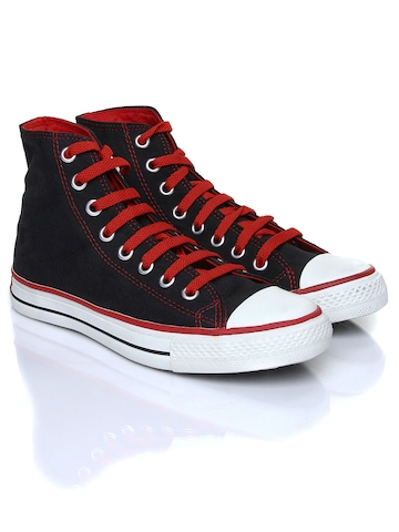 Converse Men Black & Red Shoes