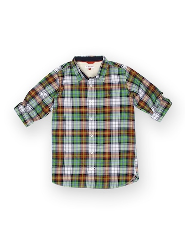 U.S. Polo Assn. Kids Boys Multicoloured Checked Shirt at myntra