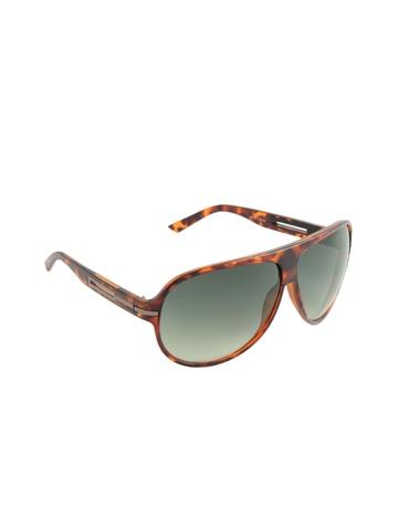 Louis Philippe Men Green Sunglasses