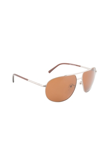 Louis Philippe Men Brown Sunglasses