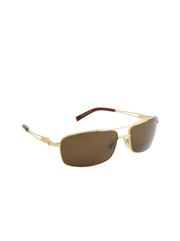 Louis Philippe Men Gold Sunglasses