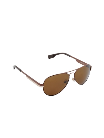Louis Philippe Men Brown Sunglasses