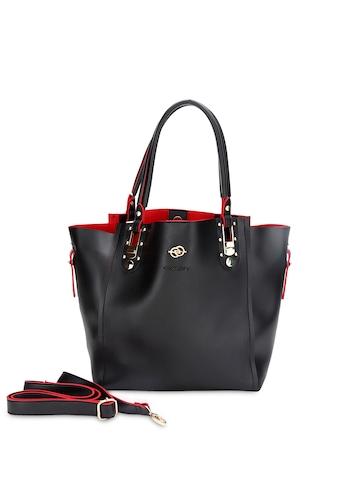 Elespry Black Handbag at myntra
