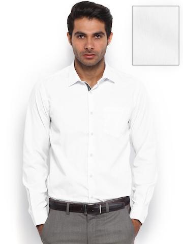 Mark Taylor Men White Slim Fit Formal Shirt