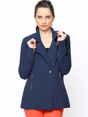 Vero Moda Women Navy Jacket at myntra