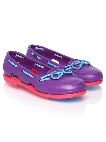 Crocs Women Purple Boat Shoes available at Myntra for Rs.2118