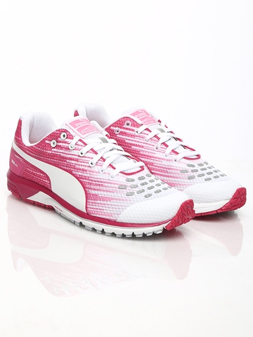 2606ccf076eb PUMA Women White Pink Faas 300 v4 Running Shoes available at Myntra for  Rs.2599