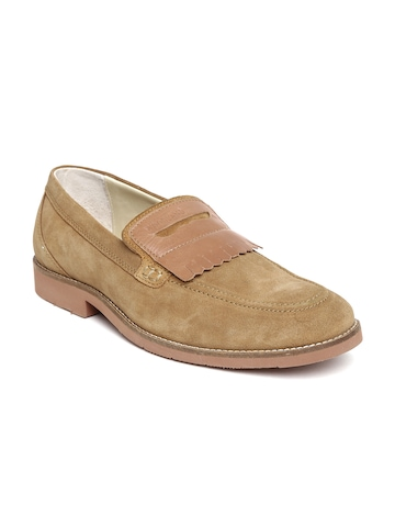 Woodland Men Brown Suede Loafers available at Myntra for Rs.2401