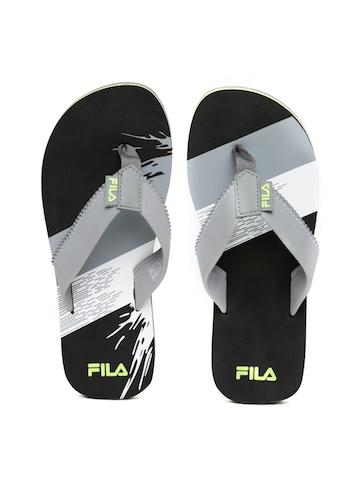 b92c53c357b3 FILA Men Grey Black DELIGHT Flip Flops available at Myntra for Rs.489