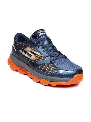 Buy Skechers Men Navy Amp Orange Printed Go Run Ultra 2