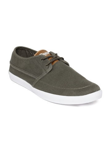 roadster olive green canvas shoes available at myntra