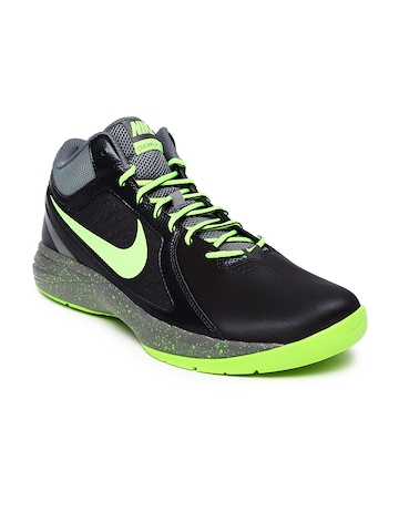 9bd232eba04f41 Nike Men Black Neon Green The Overplay VIII Basketball Shoes available at  Myntra for Rs.