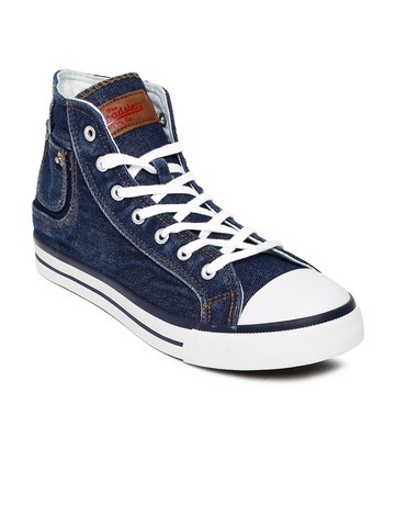 Buy Roadster Men Blue Denim Canvas Shoes Footwear For Men