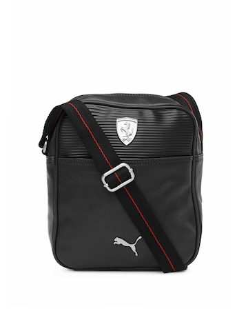 443c097593 PUMA Unisex Black Ferrari Portable Messenger Bag available at Myntra for  Rs.1079