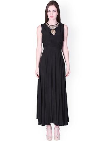 Buy Label Ritu Kumar Black Maxi Dress - Dresses for Women ... - photo #32