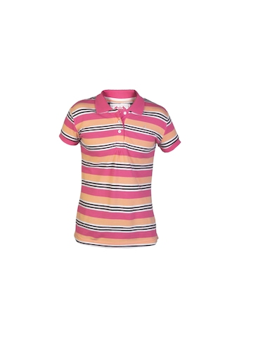 Gini and Jony Girls Polo Striped Pink T-shirt