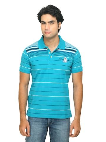 Proline Men Striped Blue T-shirt