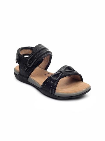 Clarks Men Vent Jump Black Sandals