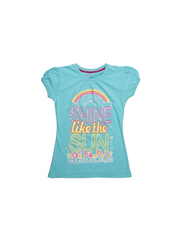 Kids Ville Girls Turquoise Blue Top