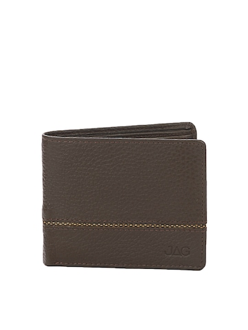 JAG Men Chocolate Brown Leather Wallet