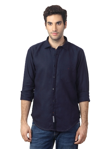 Basics Men Navy Shirt