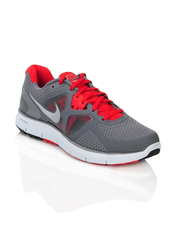 Nike Men Lunarglide Grey Sports Shoes