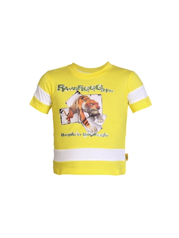 Jungle Book Boys Rumble In The Jungle Yellow T-shirt