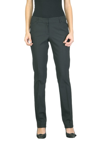 Scullers For Her Women Striped Black Trousers