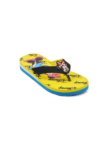 Disney Unisex Kids Basic Yellow Flip Flops