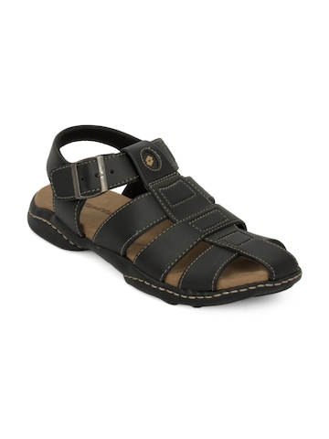 Lotto Men Black Tread Sandals