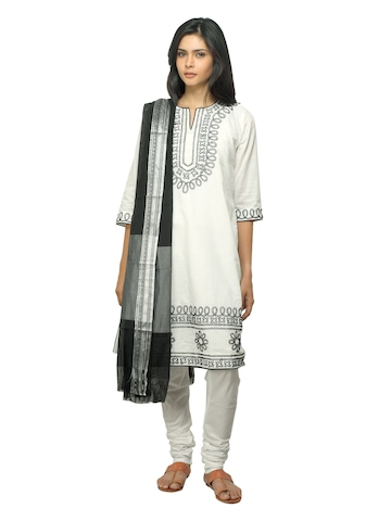 BIBA OUTLET Women White Salwar Suit
