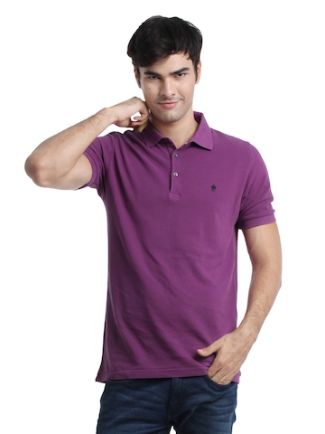 French Connection Men Purple T-shirt