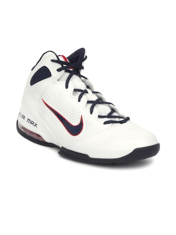 Nike Men White Air Max Full Court Sports Shoes