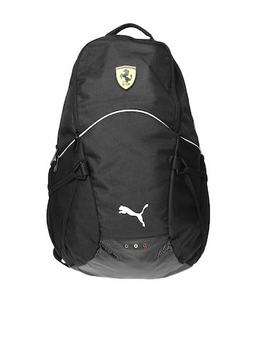 Puma Unisex Black Ferrari Backpack