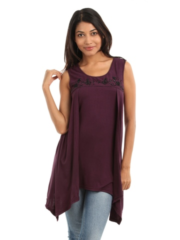 AND by Anita Dongre Women Wine Coloured Top