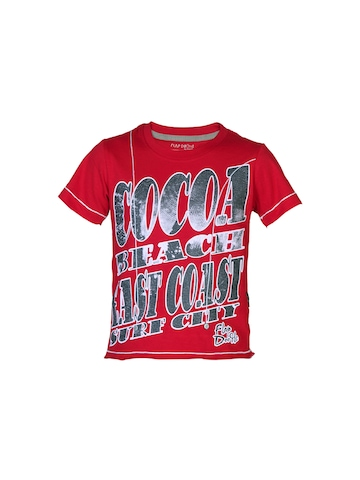 Doodle Boys Printed Red T-shirt