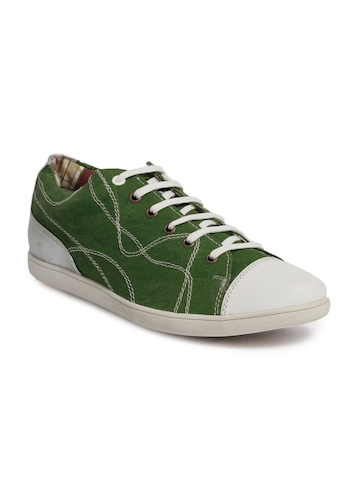 Flying Machine Men Casual Green Casual Shoes