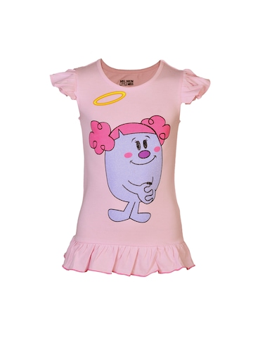 Little Miss Girls Naughty Pink Top