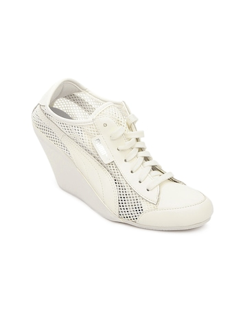 Puma Women White Karmin Heeled Shoes
