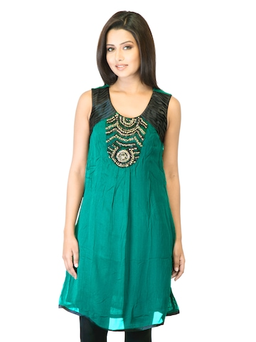 La-Emotio Women Green Kurta