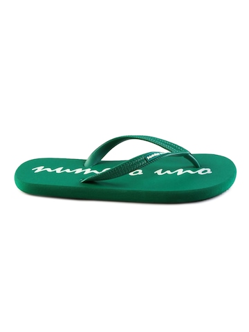 Numero Uno Men's Casual Green Graphic Flip Flop