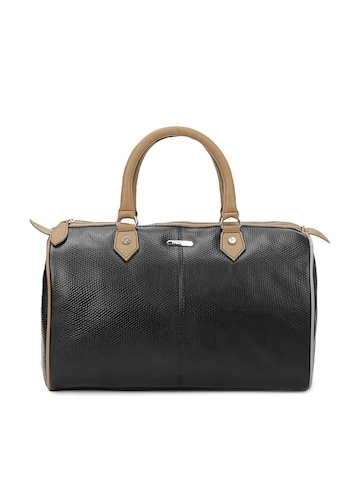 Fiorelli Women Black and Taupe Leather Handbag
