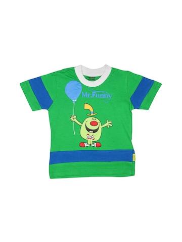Mr.Men Boys Mr. Funny Green T-shirt