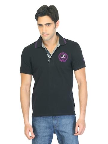Lee Men Troy Black Polo T-shirt