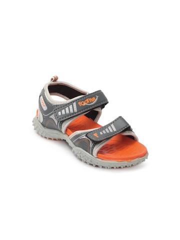 Footfun Kids Unisex Grey Sandals